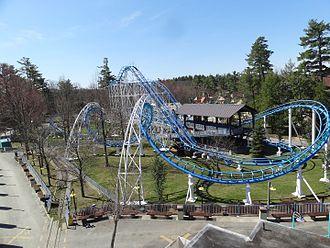 Canobie Lake Park - The Canobie Corkscrew roller coaster