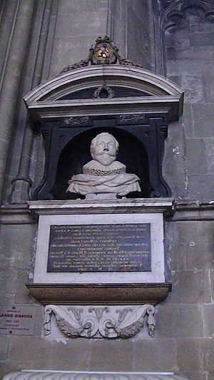 Orlando Gibbons - Gibbons' monument in the nave of Canterbury Cathedral