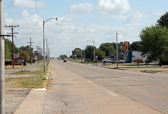 Canute, Oklahoma - Old U.S. Highway 66 in Canute.