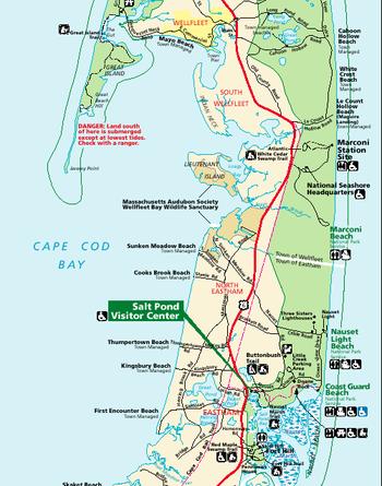 cape cod national seashore map pdf