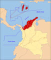 Caribbean region of Colombia map.png
