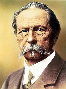 Karl Benz. Benz made the 1886 Benz Patent Motorwagen, which is widely regarded as the first automobile. Carl-Benz coloriert.jpg
