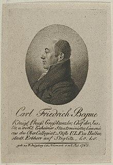 Carl Friedrich Beyme; Johann Daniel Laurenz (1810) (Quelle: Wikimedia)