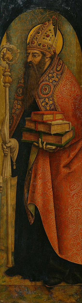 St. Augustine by Carlo Crivelli Carlo Crivelli - St. Augustine - Google Art Project.jpg
