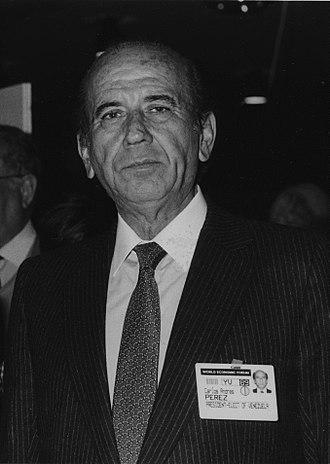 Carlos Andrés Pérez - Pérez at the Annual Meeting of the World Economic Forum in 1989.
