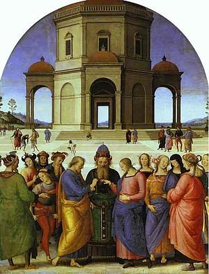 Espousals of the Blessed Virgin Mary - Image: Casamento perugino 1
