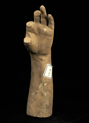 The Greek Slave - Cast of the Forearm and Left Hand of Greek Slave (thumb and two fingers missing)