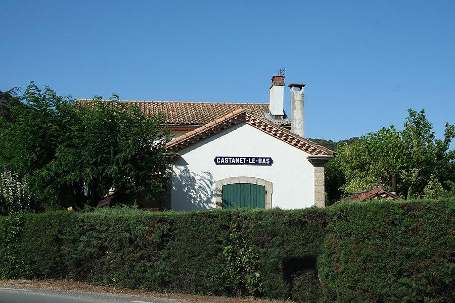 Saint-Gervais-sur-Mare (Hérault) - ancienne gare de Castanet-le-Bas.