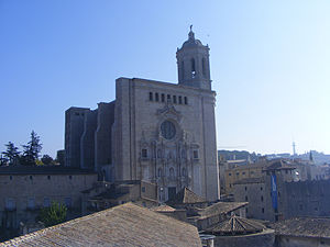 Girona Cathedral - Main facade of the Girona Cathedral