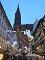 Cathédrale de Strasbourg depuis la rue Mercière pour le millénaire des fondations de la cathédrale.jpg