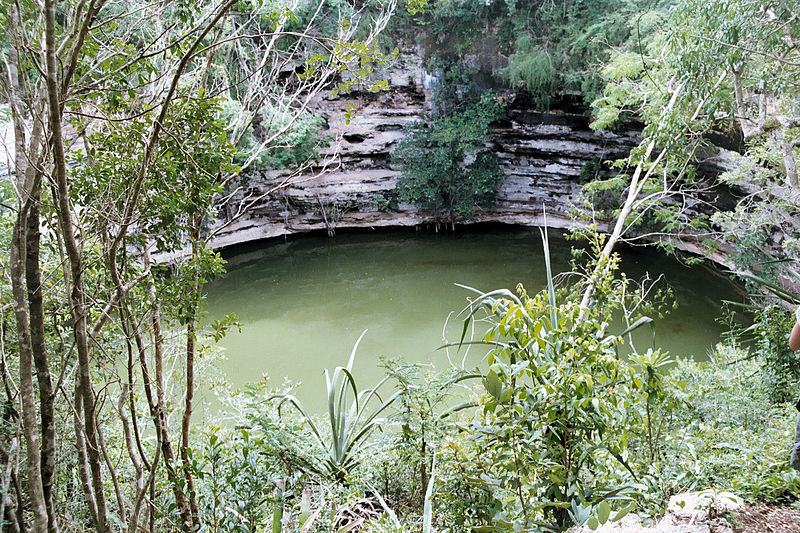 Sacred Cenote at Chichen Itza.