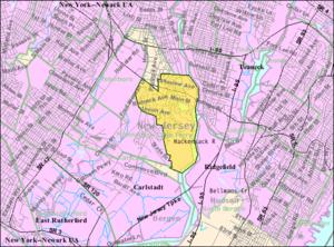Little Ferry, New Jersey - Image: Census Bureau map of Little Ferry, New Jersey