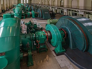 Walchensee Hydroelectric Power Station - Overview of the turbines
