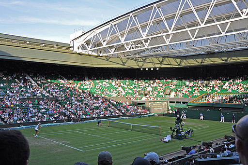 Retractable Centre Court roof at Wmbledon.