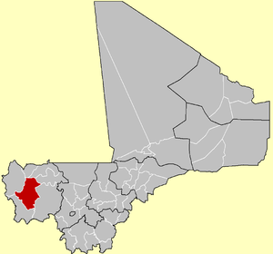 Location of Bafoulabé Cercle in Mali