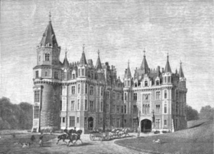 Chateau des Amerois - Royal castle of Amerois, ca 1890.