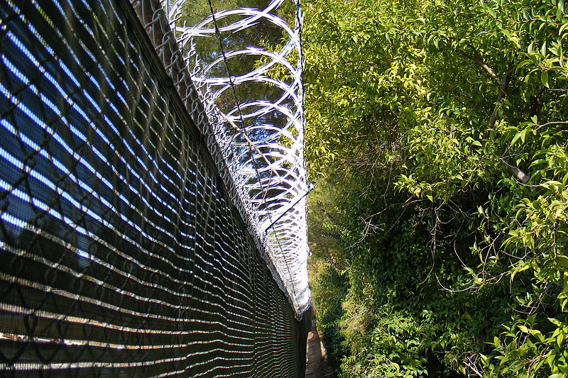 Ficheiro:Chain-link and barbed wire.jpg