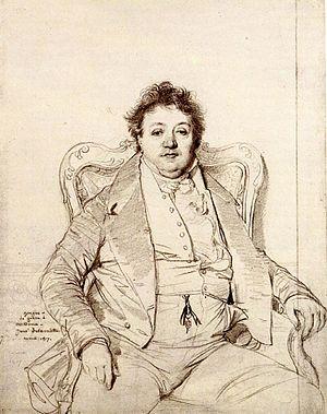 Charles Thévenin - Portrait of Thévenin by  Dominique Ingres (1817).