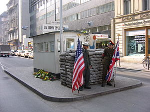 Memorial Site: Checkpoint Charlie (rebuild) in...