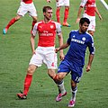 Chelsea 2 Arsenal 0 Top team performance, top of the league. (15265994167).jpg