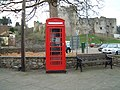 Chepstow - red telephone box near the castle - geograph.org.uk - 471780.jpg