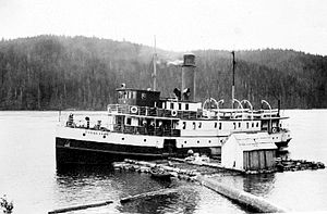 Cheslakee - Image: Cheslakee (steamship) at Powell River BC 1912