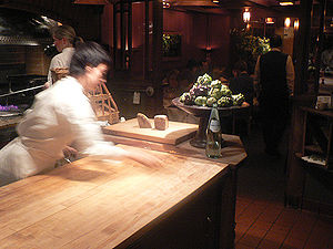 Chez Panisse - The Chez Panisse downstairs kitchen and dining room