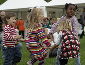 Children dancing, International Peace Day 2009...