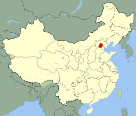 Location of Beijing Municipality within China