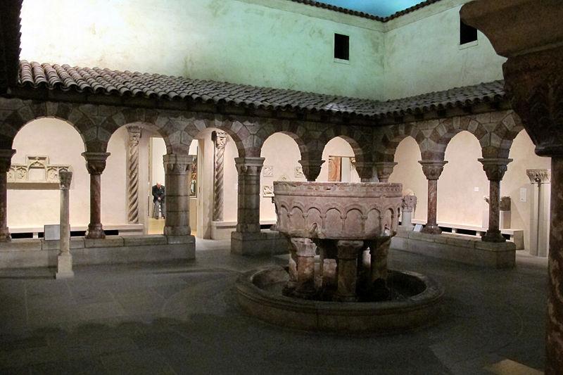 File chiostro dell 39 abbazia di saint genis des fontaines for Piani di fattoria del 19 secolo