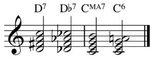 Chord substitution - Image: Chord quality substitution