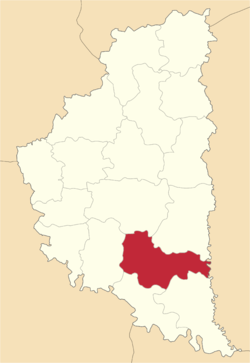 Location of Čortkivas rajons