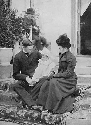 Christian X of Denmark - Prince Christian and Princess Alexandrine with their son Frederick in 1900.