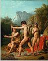 Christoffer Wilhelm Eckersberg - Three Spartan boys practising archery - Google Art Project.jpg