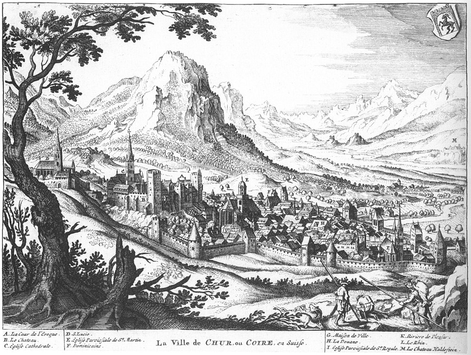 Chur 1642 Merian Helvetiae