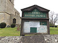 Church of St Andrew, Boothby Pagnell, Lincolnshire, England - church sign board.jpg
