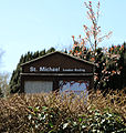 Church of St Michael, Leaden Roding, Essex, England - church sign.jpg