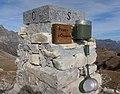 Cippo e libro di vetta - Punta d'Orogna (2447 m) - Valle Devero - Baceno VB, Piemonte, Italy - 2019-10-27.jpg