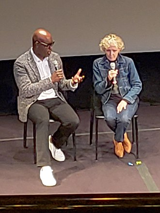 High Life (2018 film) - Claire Denis (right) presenting High Life at the 2018 Toronto International Film Festival.