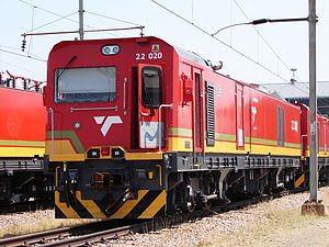 South African Class 22E - No. 22-020 at Pyramid South on 22 September 2015