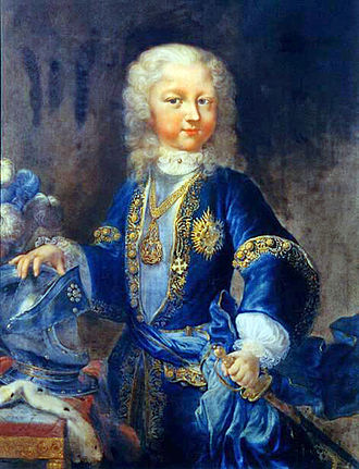 Charles Emmanuel III of Sardinia - Victor Amadeus III, son of Charles Emmanuel III, as child. Portrait by Maria Giovanna Clementi.