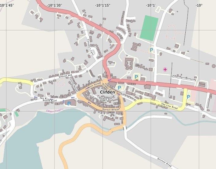 Clifden town centre