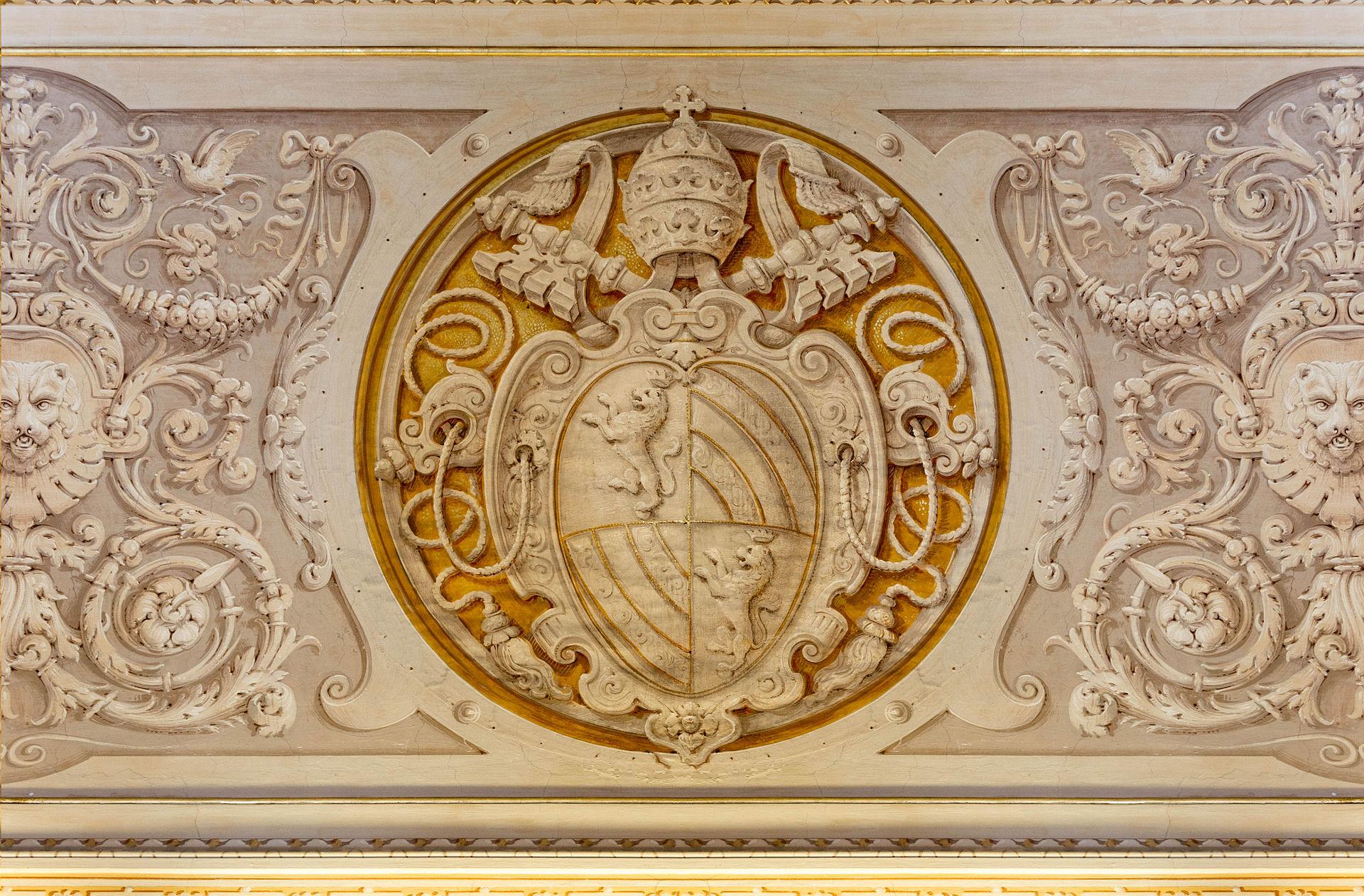 Coat of Arms of Pope Pius IX Vatican 16.jpg