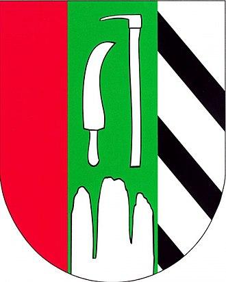 Ostrov u Macochy - Image: Coat of arms of Ostrov u Macochy
