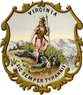 Flag and seal of Virginia - Image: Coat of arms of Virginia (1876)