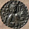 Coin of Canute I of Sweden c. 1180.jpg