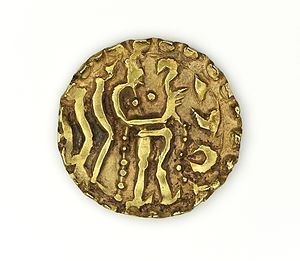Bangladesh - Gold coin (about 670 CE) from the reign of King Rajabhata of the Khadga dynasty