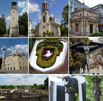 Razgrad - Image: Collage of views of Razgrad