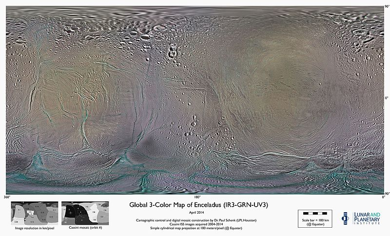 global, color mosaics of Enceladus