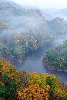 Colored leaves at Ryujinkyo ravine (6367543963)
